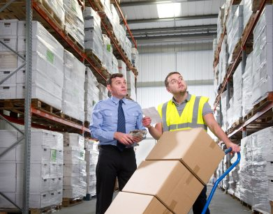 looking for products stored in a warehouse