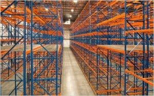 Empty Rolled Formed Roll Form Pallet Shelving