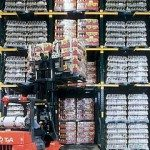 Forklift Placing Pallets in Twinlode Rack