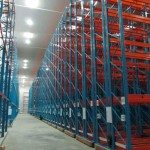 Mobile racking in a freezer warehouse