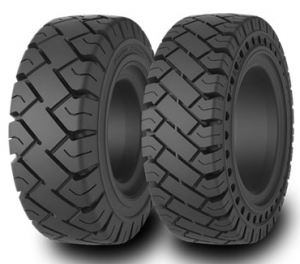 Solid pneumatic forklift tires