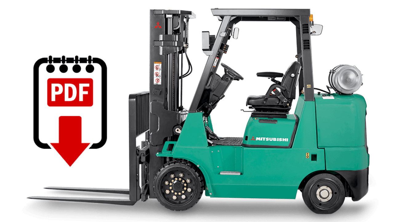 Mitsubishi forklift FGC35K series manuals | Download PDFs