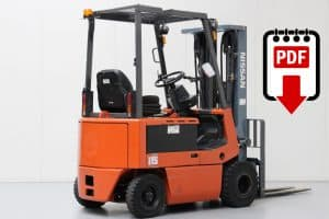Nissan forklift P01 and P02 series manuals