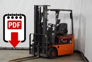 Nissan forklift N01 and TN01 series manuals