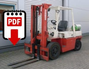 Nissan forklift F03 series manuals