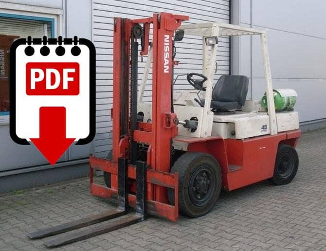 Nissan forklift F03 series manuals | Download PDFs instantly