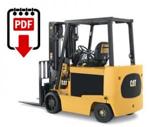 Caterpillar E7000 Forklift Service Manuals