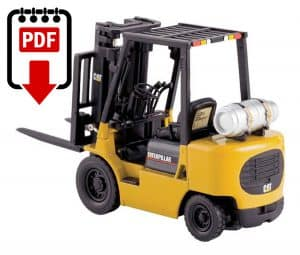 Caterpillar forklift gp30k Manual