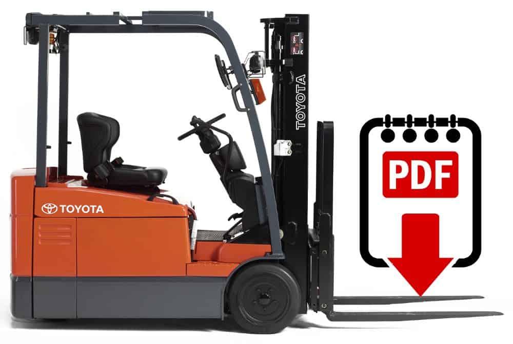 Toyota Forklift Service Manual 6BNCU15 Series Download