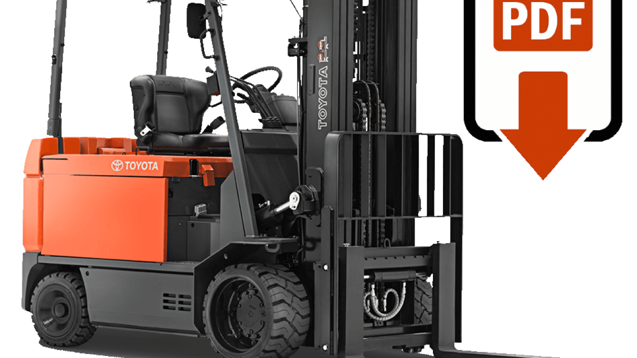 Toyota forklift manuals - Find the lift truck manual for your Toyota