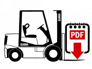 Clark C500-Y950-CH Forklift Repair Manual (SM-580)