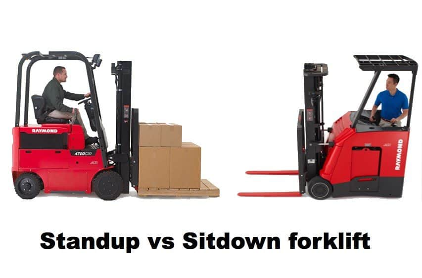 stand up vs sit down forklift