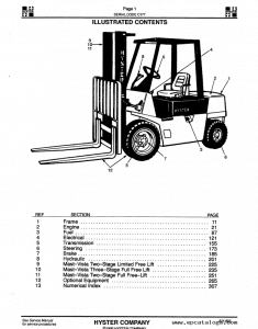 hyster forklift parts manuals download the pdf parts manual instantly rh warehouseiq com Hyster Forklift Models 1962 hyster forklift user manual