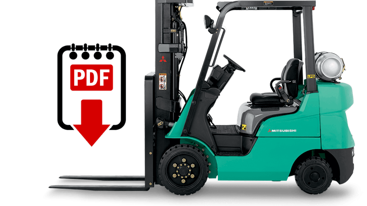 Mitsubishi FG18ZN forklift repair manual   Download PDFs instantly