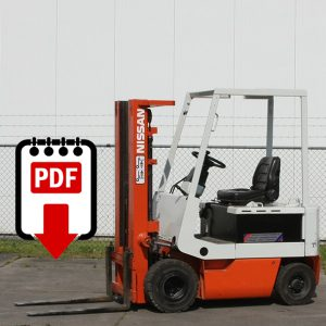 Nissan M01 and M02 Forklift Parts Manuals