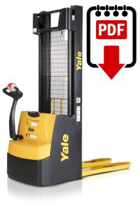 Yale MSW020-E (A895) Forklift Repair Manual