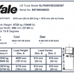 How to find a Yale forklift serial number