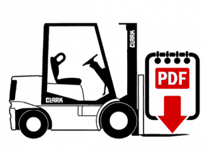 Clark GPX25E Forklift Operation, Parts and Repair Manual