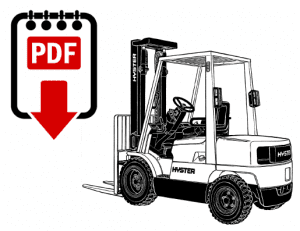 hyster e45xm2 (f108) forklift parts and repair manual