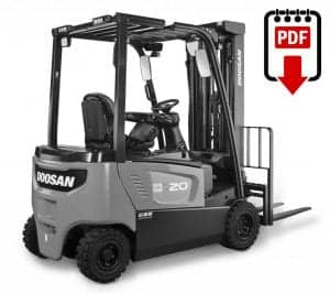 Daewoo-Doosan D20S-3 Forklift Operation, Parts and Repair Manual