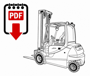 Linde 350-03 Forklift Operation, Parts and Repair Manual