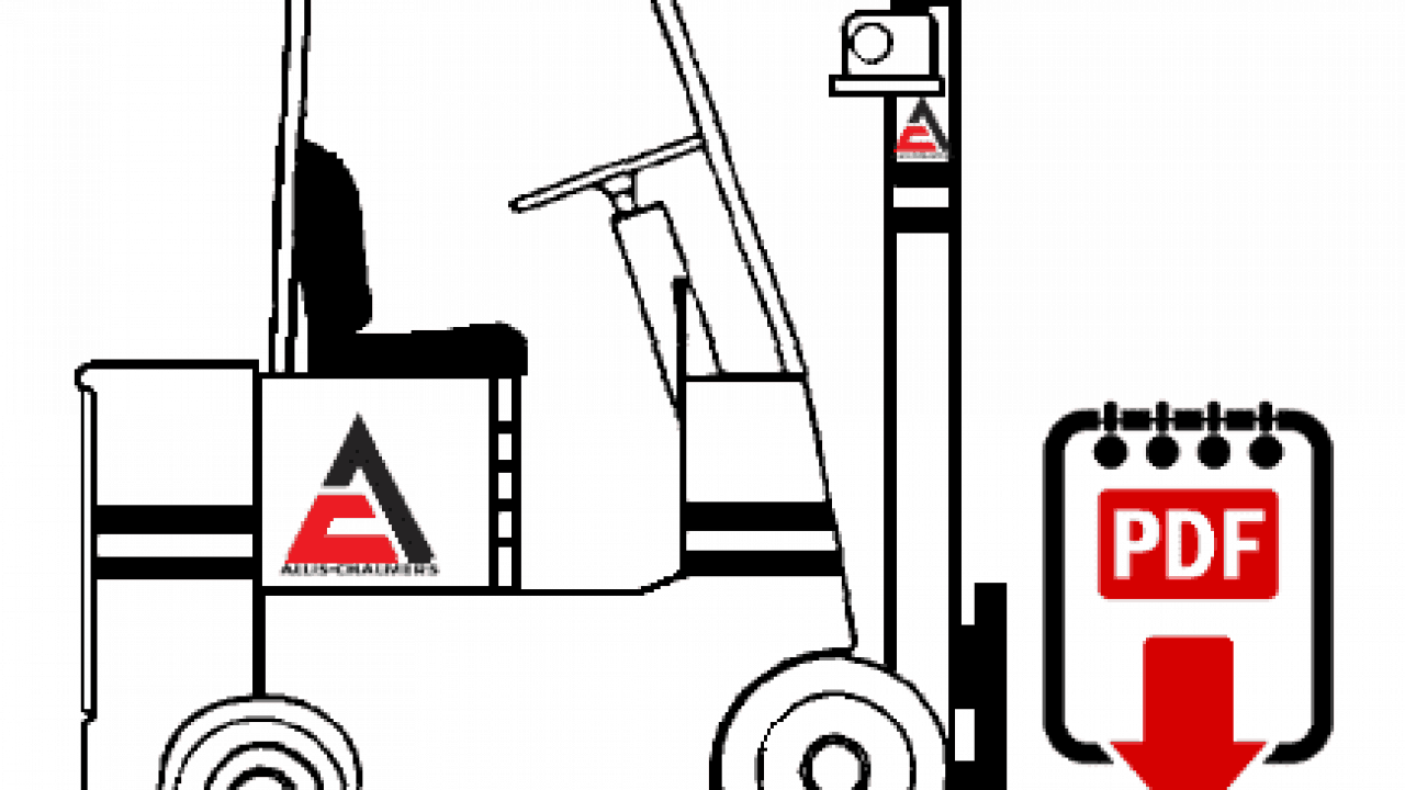 Allis-Chalmers ACP-60-PS Forklift Operation, Parts and Repair Manual