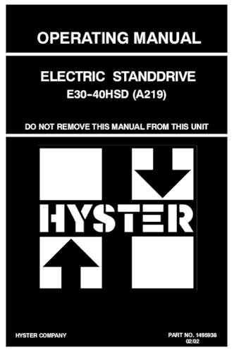 hyster 4k forklift manual