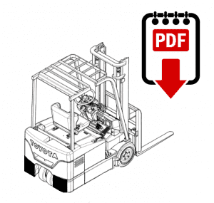 Toyota 7FGU15 Forklift Operation and Parts Manual