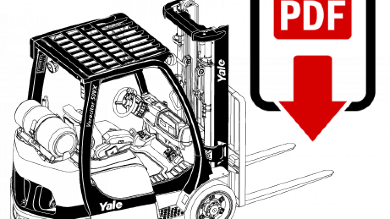 Yale GC040VX (A910) Forklift Operation and Repair Manual ... on