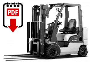 Nissan D01 Forklift Operation and Parts Manual