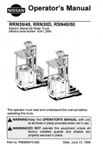 cover of forklift operator manual