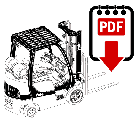 Yale GDP80DB (B876E) Forklift Operation, Parts and Repair Manual